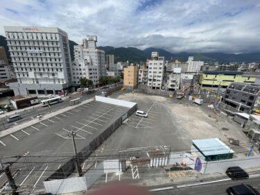 別府駅前の近鉄百貨店跡地にホテルが建設中